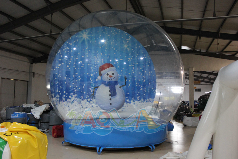 5m giant inflatable christmas snow globe a set on flickr